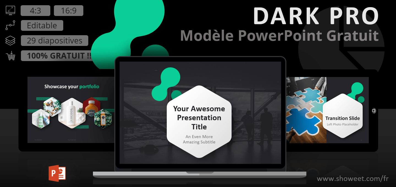 Dark Pro – Modèle PowerPoint Moderne Gratuit