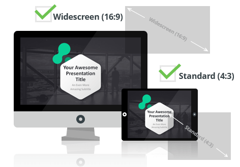 Dark Pro PowerPoint Template optimized for both Widescreen and Standard Layouts