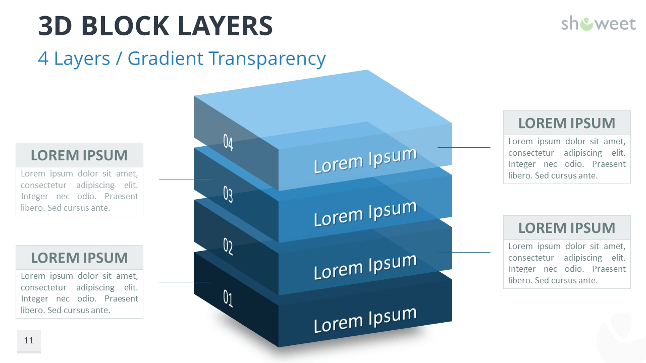 3d block layers for powerpoint