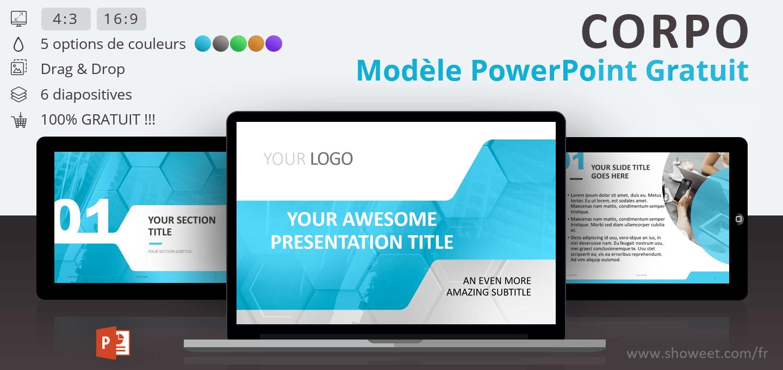 CORPO - Modèle PowerPoint Professionnel Gratuit