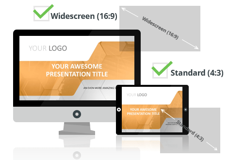 Corpo PowerPoint Template optimized for both Widescreen and Standard Layouts