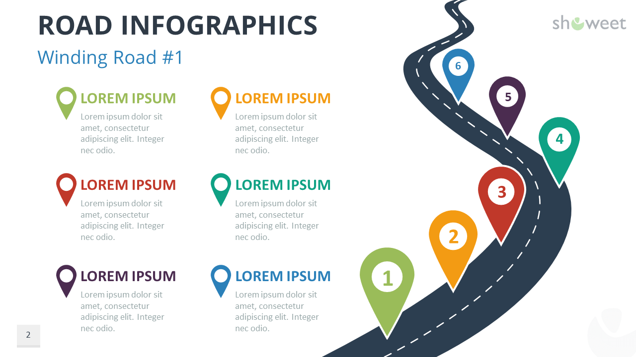road infographics for powerpoint