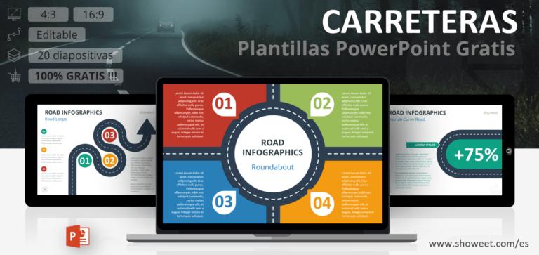 Plantillas Infográficas de Carreteras para PowerPoint