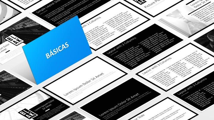 BLAK Plantilla para PowerPoint - Diapositivas básicas