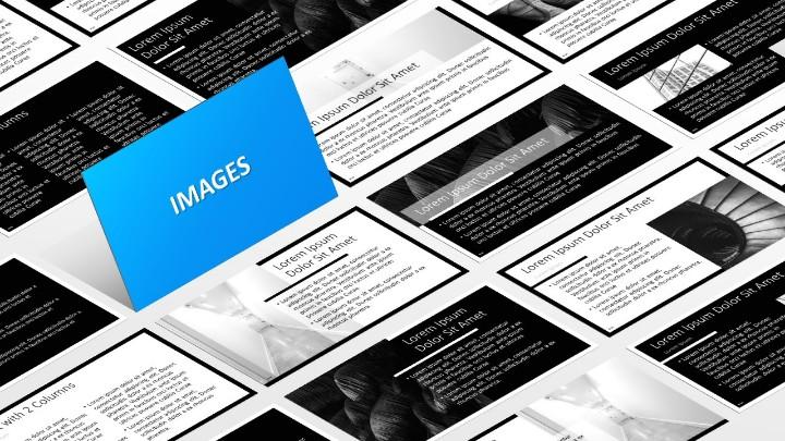 BLAK – Modèle PowerPoint - Diapositives avec images