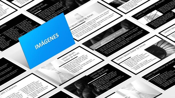 BLAK Plantilla para PowerPoint - Diapositivas con marcador de posición de imagen