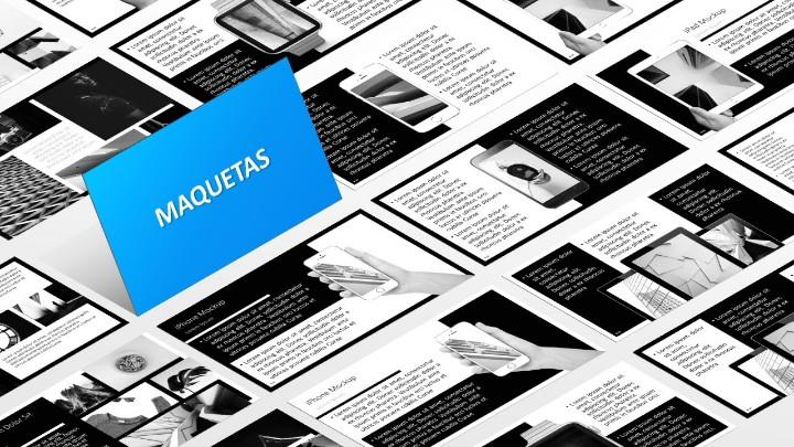 BLAK Plantilla para PowerPoint - Maquetas