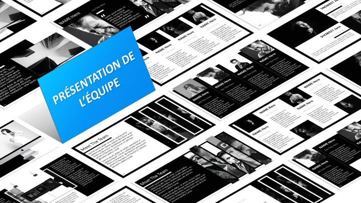 BLAK – Modèle PowerPoint - Présentation de l'équipe