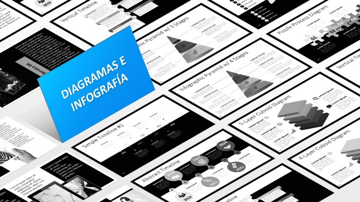 BLAK Plantilla para PowerPoint - Diagramas e Infografía