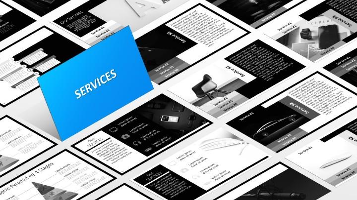 BLAK – Modèle PowerPoint - Services