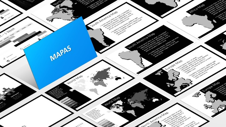 BLAK Plantilla para PowerPoint - Mapas