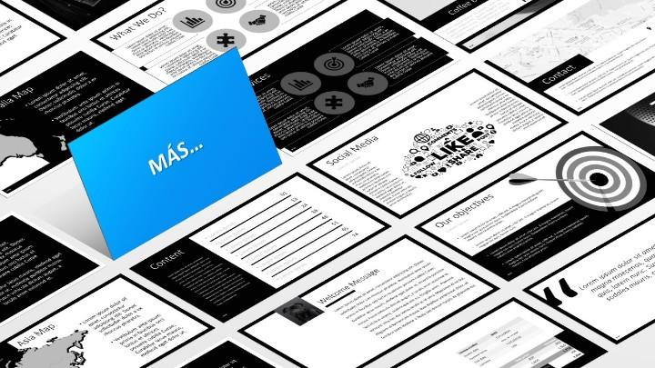 BLAK Plantilla para PowerPoint - Más