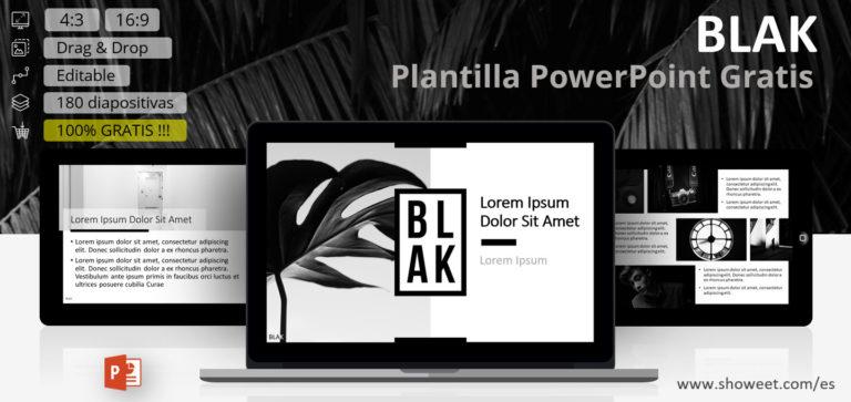 BLAK - Plantilla para PowerPoint completa y versátil