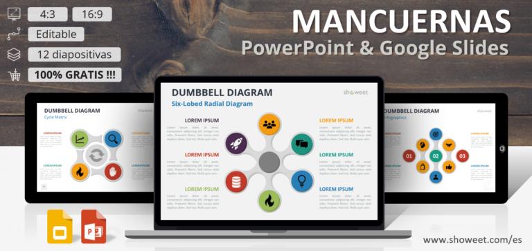 Diagramas Gratis tipo Mancuernas para PowerPoint y Google Slides