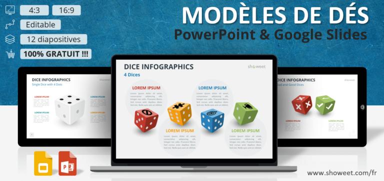 Dés – Modèles Infographiques pour PowerPoint et Google Slides