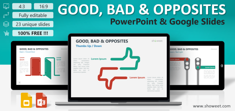 Good, Bad and Opposites for PowerPoint and Google Slides
