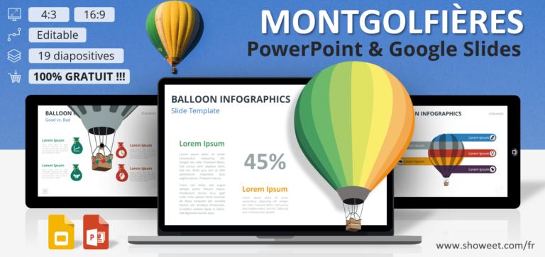 Montgolfières – Modèles Infographiques pour PowerPoint et Google Slides