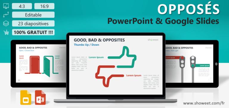 Opposés - Modèles Infographiques pour PowerPoint et Google Slides
