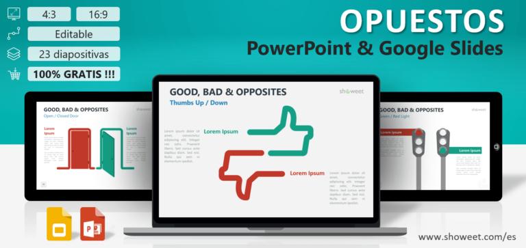 Opuestos - Plantillas de Infografía para PowerPoint y Google Slides