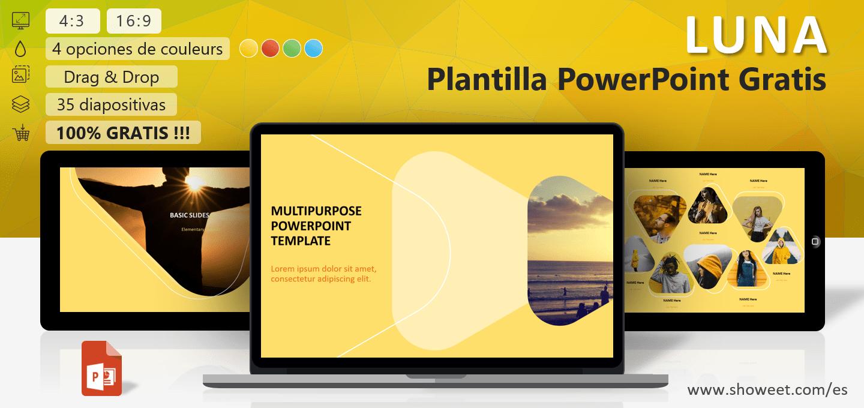 LUNA - Modelo Moderno Versátil para PowerPoint