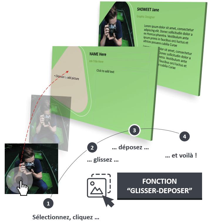 LUNA – Modèle PowerPoint moderne optimisé avec la fonction Glisser - Déposer
