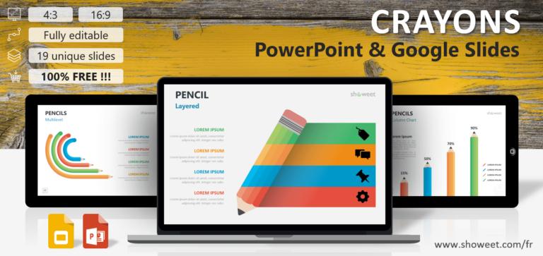 Crayons - Modèles Infographiques pour PowerPoint et Google Slides