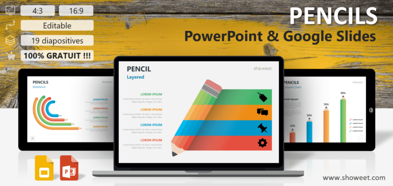 Free Pencils for PowerPoint and Google Slides