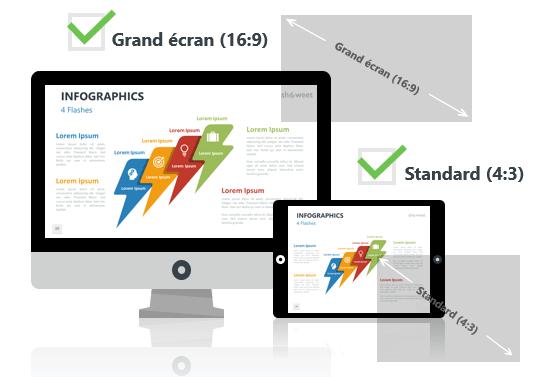 Eléments Infographiques pour PowerPoint aux formats Grand écran et Standard