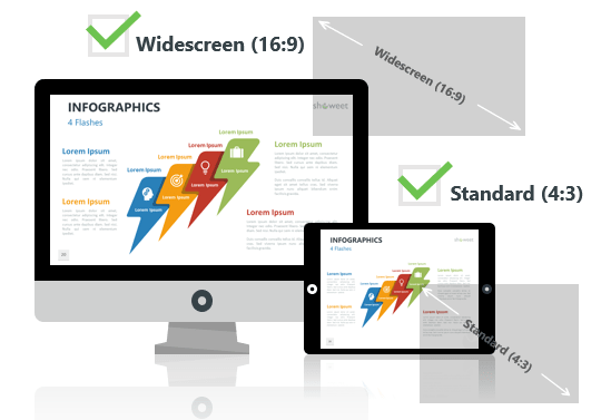 Infographic Elements for PowerPoint - Optimized for Widescreen and Standard Layouts