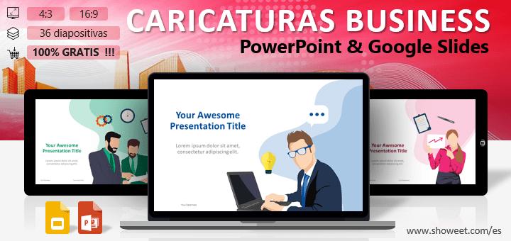 Caricaturas Business - Plantilla para PowerPoint y Google Slides