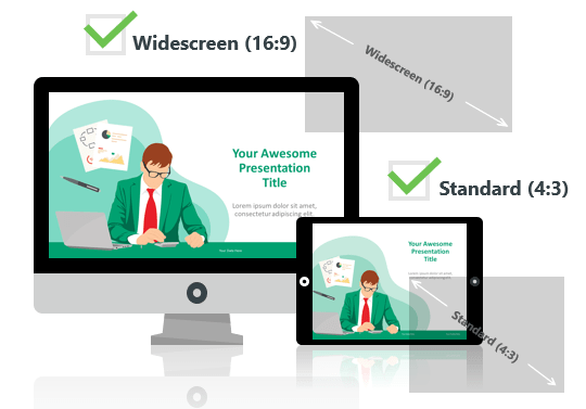 Cartoon Business Template for PowerPoint - Optimized for Widescreen and Standard Layouts