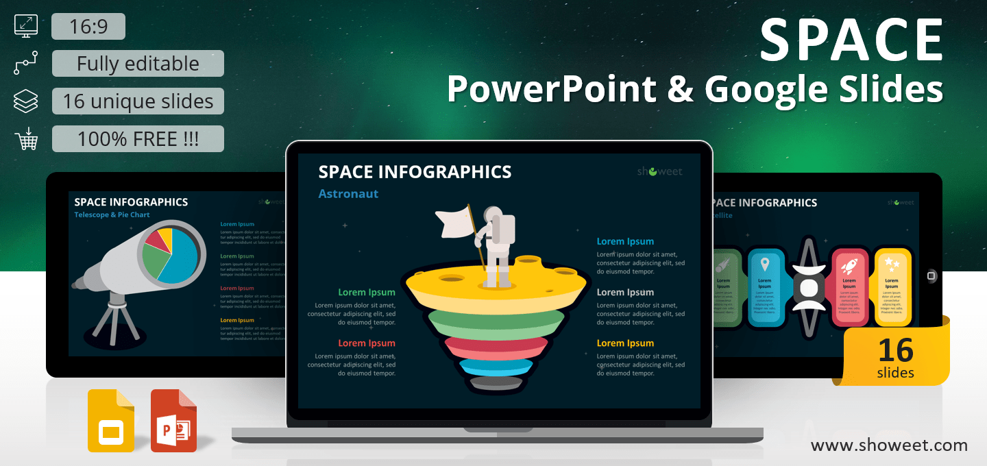 Free Space Infographics for PowerPoint and Google Slides
