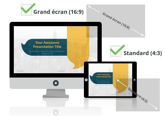 Bulles - Modèles PowerPoint aux formats Grand écran et Standard
