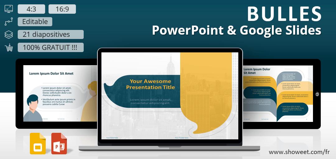 Bulles – Modèle pour PowerPoint et Google Slides