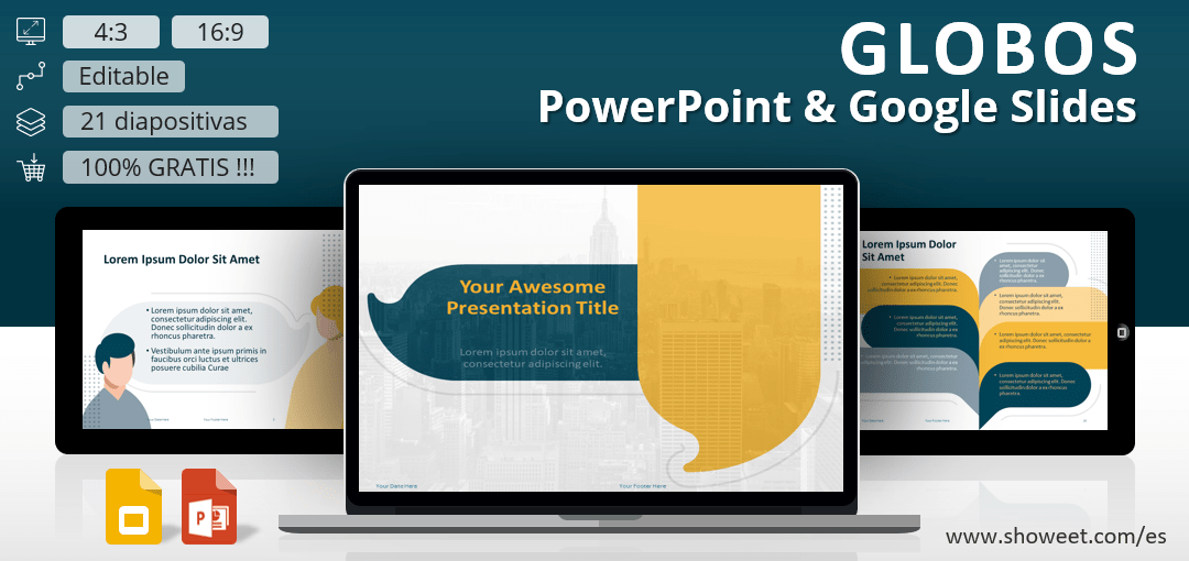 Globos - Plantilla para PowerPoint y Google Slides