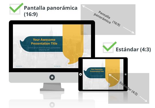Globos Plantilla para PowerPoint - Pantalla estándar (4:3) y pantalla panorámica (16:9)