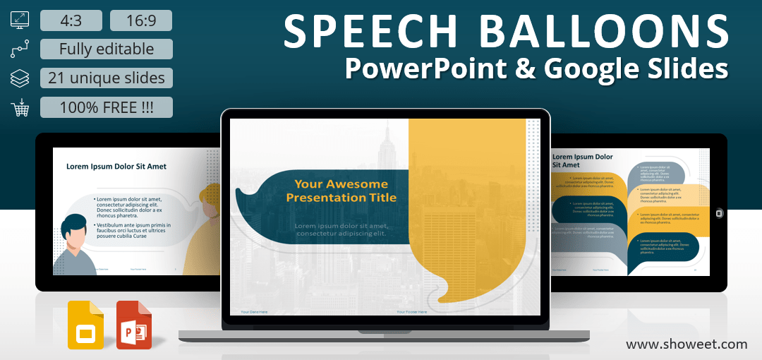 Speech Bubbles Template for PowerPoint and Google Slides