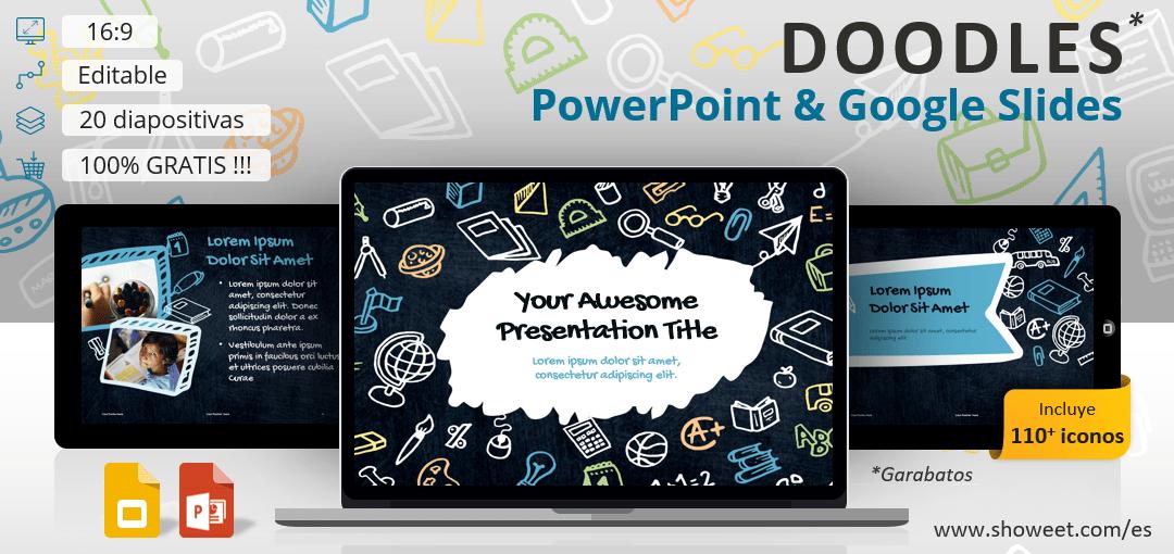 Doodles (Garabatos) - Plantilla para PowerPoint y Google Slides