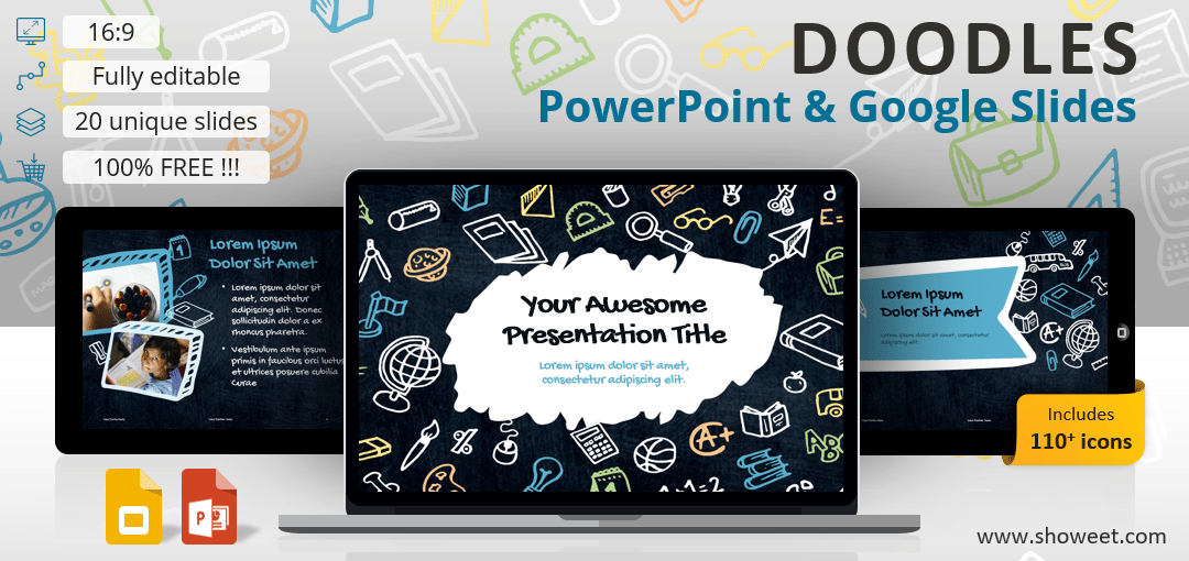 Free Doodles Template for PowerPoint and Google Slides