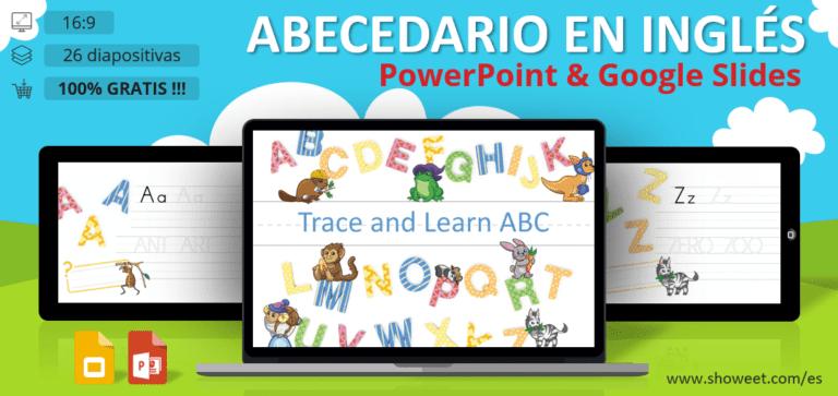 Abecedario en inglés - Fichas PowerPoint y Google Slides