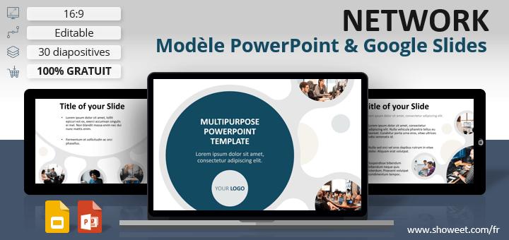 NETWORK – Modèle Moderne pour PowerPoint et Google Slides