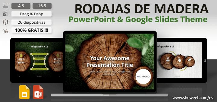 RODAJAS DE MADERA - Plantilla de Naturaleza para PowerPoint y Google Slides