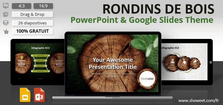 RONDINS DE BOIS – Modèle Nature pour PowerPoint et Google Slides