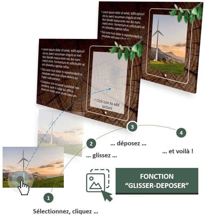 RONDINS DE BOIS – Modèle PowerPoint Nature optimisé avec la fonction Glisser - Déposer