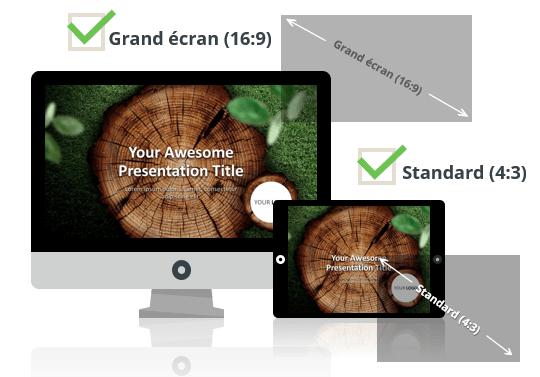 Rondins de Bois - Modèles PowerPoint aux formats Grand écran et Standard