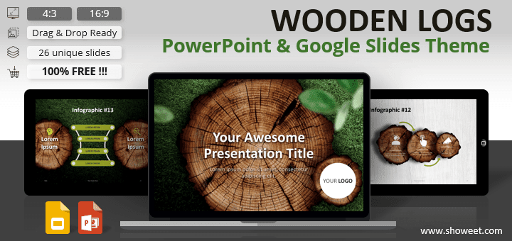 WOODEN LOGS - Nature Template for PowerPoint and Google Slides
