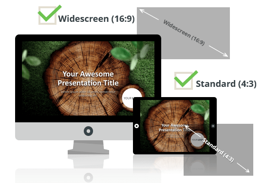 Wooden Logs Template for PowerPoint - Optimized for Widescreen and Standard Layouts