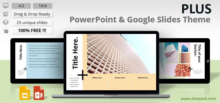 PLUS - Clean Template for PowerPoint and Google Slides
