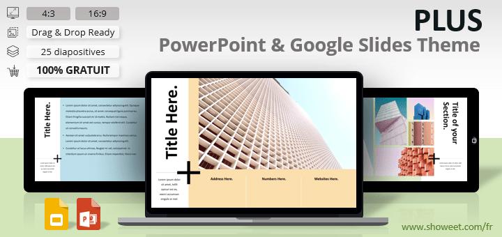PLUS – Modèle Epuré pour PowerPoint et Google Slides