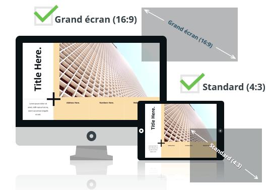 PLUS - Modèle PowerPoint aux formats Grand écran et Standard